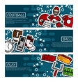 Set of Horizontal Banners about american football vector image