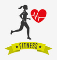 healthy lifestyle design vector image