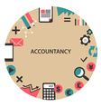 Accountancy emblem vector image vector image