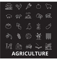 agriculture editable line icons set on vector image vector image