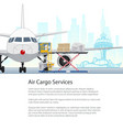 air cargo services and freight brochure design vector image