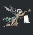 angel god llustration vector image