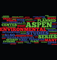 aspent nightlife aspen center for environmental vector image vector image