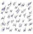 Big Signatures set - group of fictitious contract vector image vector image