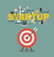 big target startup concept vector image
