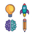 brain storming set icons vector image vector image