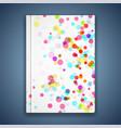 bright color dots shimmer folder template vivid vector image