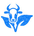bull and plant icon grunge watermark vector image vector image