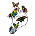 butterflies are free to fly vector image