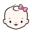 Cartoon Baby Girl vector image