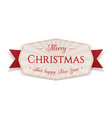 christmas realistic emblem graphic element vector image vector image