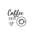 coffee hipster vintage stylized lettering badge vector image vector image