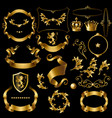 creation set with vintage golden elements vector image vector image