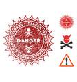danger trends watermark with distress texture vector image vector image