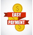 easy payment design vector image vector image