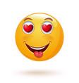 enamored emoji vector image