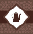 flyer for advertising coffee vector image