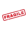 Fragile Text Rubber Stamp vector image