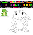 frog coloring book vector image vector image