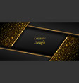 gold on black luxury background golden glowing vector image