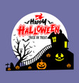 happy halloween trick or treat t shirt vector image vector image
