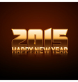 Happy New Year 2015 - gold style vector image