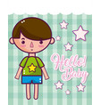 hello baby cute card vector image vector image