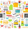 Kitchenware seamless pattern vector image vector image