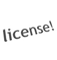 license text design vector image vector image