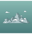 linear mountains landscape minimal flat style vector image vector image
