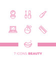modern icons set of cosmetics beauty spa vector image