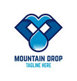 mountain drop logo vector image vector image