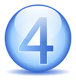 Number four button vector image vector image