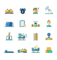 Oil gas industry modern flat design icons and vector image