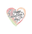 ombre print Watercolor heart vector image vector image