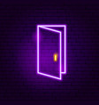 open door neon sign vector image vector image
