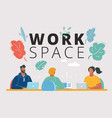 people work in a team at table vector image