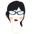 Person of the girl bespectacled vector image vector image