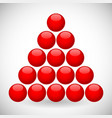 red spheres in triangular formation vector image