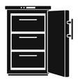 refrigerator icon simple style vector image vector image