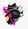 retro abstract background the poster with the vector image vector image