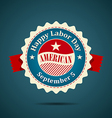 Ribbon labor day american design vector image vector image