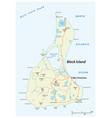 road map block island rhode island usa vector image vector image