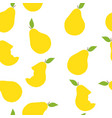 seamless pattern of yellow pears vector image