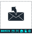 Sending mail icon flat vector image vector image
