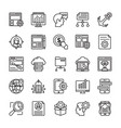 seo and web optimization line icons 1 vector image vector image