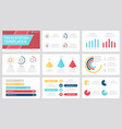 set grey yellow blue and red elements for vector image