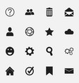 Set of 16 editable web icons includes symbols