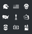 set of america icons vector image vector image