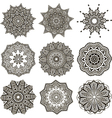 set of black and white mandalas vector image